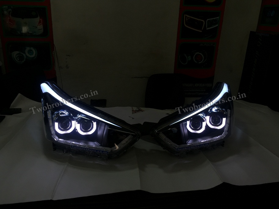 Creta Dual U Shape Projector Headlights With Matrix Drl