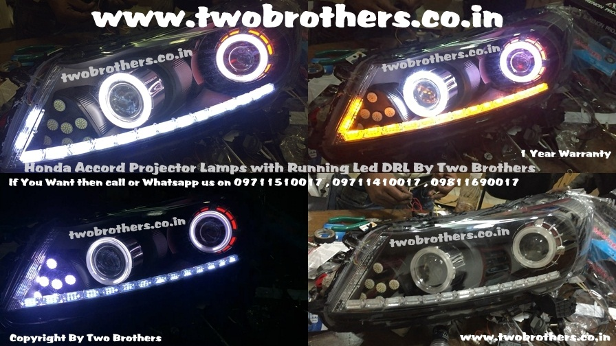 Honda Accord Dual Projector Lamps With Running Led Drl