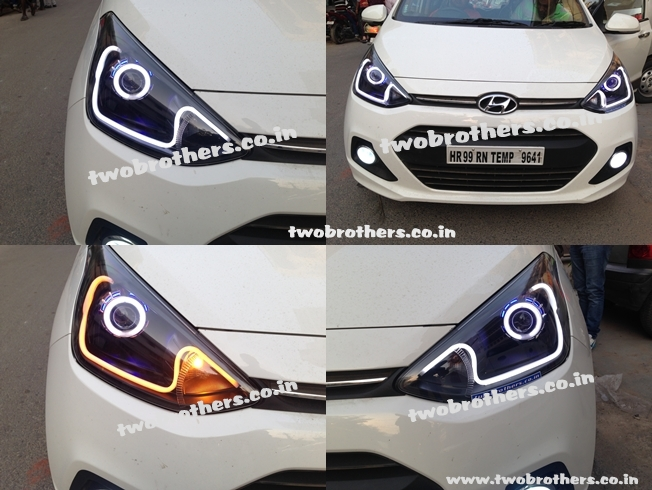 Grand I10 Projector Lamps With Audi Style