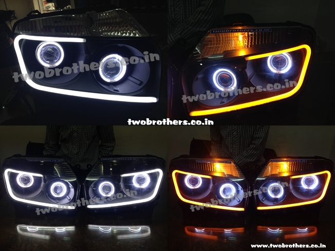 Duster Dual Projector Lamps With Audi Drl
